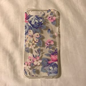 Accessories - Purple & Pink Floral Iphone Case